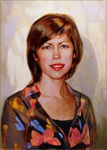 портрет маслом по фотографии на холсте